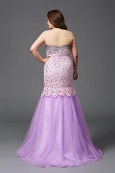 Natürliche Taille Juwel akzentuiertes Mieder Sommer Abendkleid