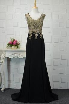 Juwel akzentuiertes Mieder Natürliche Taille Klassisch Abendkleid