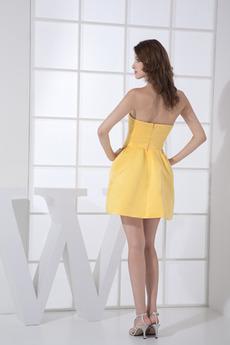 Drapiert Schatz Natürliche Taille Einfach Brautjungfernkleid