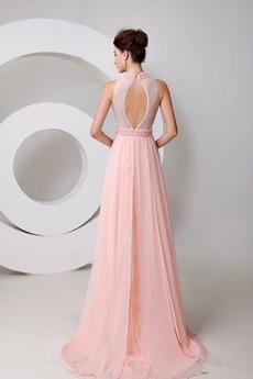 Fegen zug Formalen A Linie Drapiert Juwel Hochzeit Abendkleid