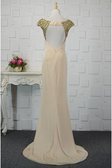 Fallen Bodenlänge Breit flach Spandex Bankett Einfache Abendkleid