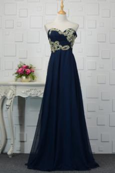 Drapiert Schatz A Linie Ärmellos Natürliche Taille Luxuriöse Abendkleid