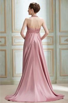 Dreieckfalte Juwel Reich Taille Winter Reißverschluss Abendkleid