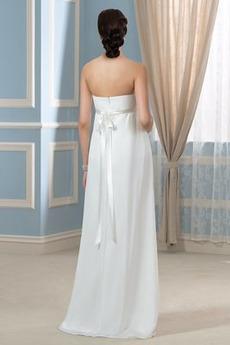 Reich Taille Fegen zug Perlengürtel Ärmellos Schwangere Abendkleid
