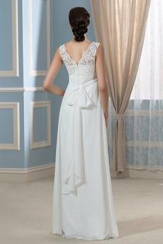 Reißverschluss Ärmellos Reich Taille V-Ausschnitt Abendkleid