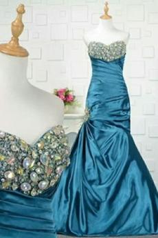 Formalen Lange Karte Bördeln Schatz Sanduhr Meerjungfrau Abendkleid