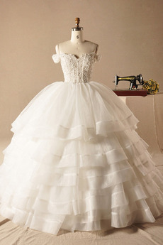 Kapelle Zug Reißverschluss Fallen Brautkleid mit kurzen Ärmeln