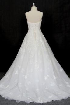 Formalen A Linie Frühling Schatz Natürliche Taille Brautkleid