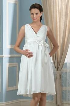 Reich Akzentuierter Bogen große Größe Reich Taille Hochzeitskleid