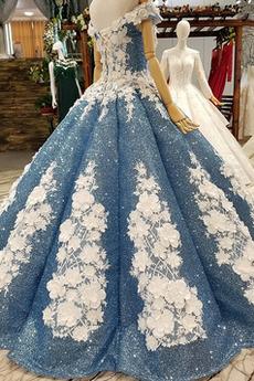 Luxuriös Schnüren Trichter Pailletten Ärmellos Blumenmädchen kleid