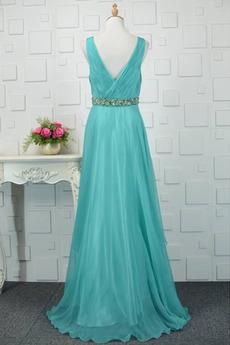 Falten Gefaltete Mieder Asymmetrisch Tiefer V-Ausschnitt Klassische Abendkleid