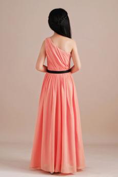 Chiffon A Linie Mitte zurück Natürliche Taille Kleine Mädchen Kleid
