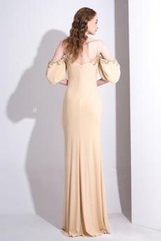 Trichter Mantel Reißverschluss Satiniert einfache Abendkleid