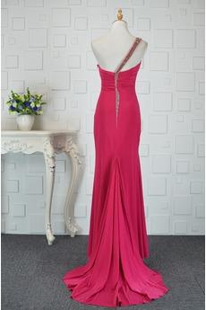 Asymmetrisch Rückenfrei Trichter Chiffon Elegante Abendkleid