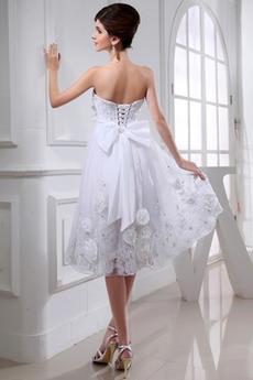 Glamourösen Tüll Natürliche Taille Sommer Lehnenlose Brautkleid