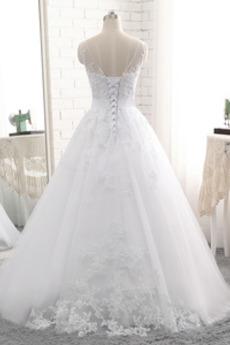 Zurückhaltend Abperleffekt Natürliche Taille Winter Brautkleid