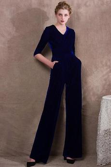 Einfach Trichter Tanzparty Reißverschluss Schwarze Abendkleid