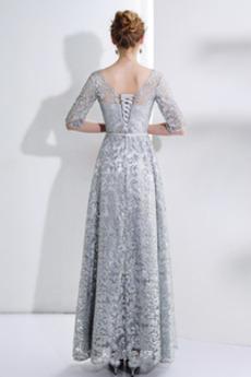 Natürliche Taille Pailletten Knöchellänge Schicke Abendkleid