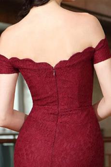 Spitzenüberlagerung Lange Tau Schulter Mit geschlossenen Ärmeln Sexy Abendkleid