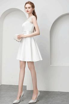Ärmellos Glamourösen Bow Reißverschluss Kurz Veranstaltungsräume Abendkleid
