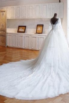 Trichter A Linie Frühling Draussen Baskische Taille Sexy Brautkleid