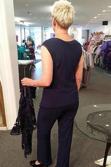 Hoch bedeckt Natürliche Taille Illusionshülsen Mutter Kleid Anzüge
