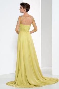 Sommer A Linie Sanduhr Hochzeit Juwel akzentuiertes Mieder Abendkleid