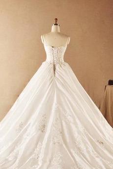 Formalen Trichter Prinzessin Fallen Kirche Bördeln Brautkleid
