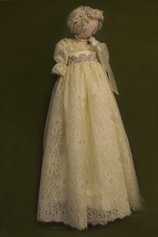 Prinzessin hoch gedeckt Spitze Lange Spitze Blumenmädchen kleid