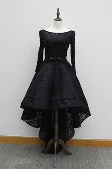 Natürliche Taille Frenal Schnüren Breit flach Asymmetrisch Abendkleid