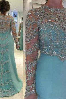 Kristall Fest Natürliche Taille Veranstaltungsräume Abendkleid