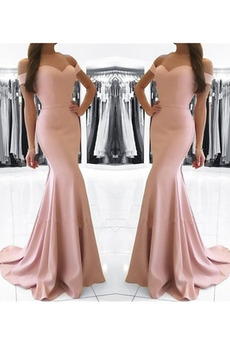 Lange Frenal Drapiert Natürliche Taille Tanzparty Abendkleid