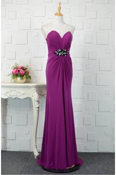 Hochzeit einfache Tiefer V-Ausschnitt Ärmellos Natürliche Taille Abendkleid