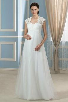 Drapiert Fegen zug Frühling Draussen Schnüren Frenal Brautkleid