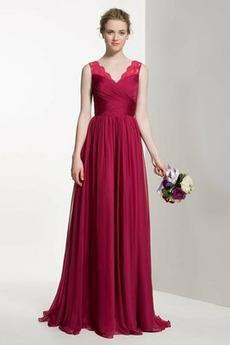 Reißverschluss Leistung Natürliche Taille Schön Brautjungfer Kleid