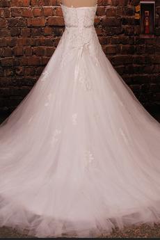 Schnüren Frenal Schatz Frühling Lange Natürliche Taille Tüll Brautkleid