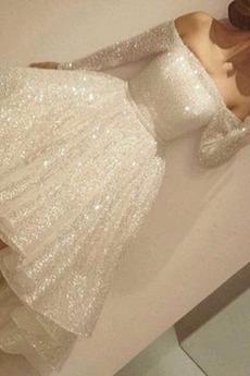 Tüll Asymmetrisch Natürliche Taille Asymmetrisch T Hemd Brautkleid