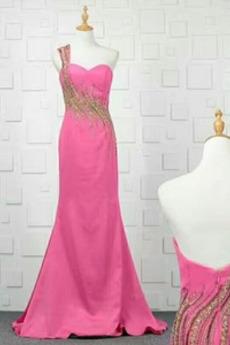 Bankett Natürliche Taille Fegen zug Juwel akzentuiertes Mieder Pailletten kleid