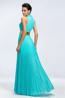 Chiffon Schärpen Ärmellos Natürliche Taille Länge des Bodens Abendkleid