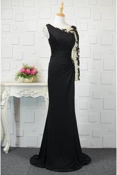 Elasthan Natürliche Taille Lange Ärmel Spitzenüberlagerung Schicke Abendkleid