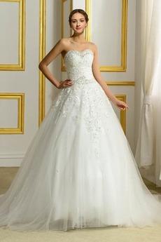 Schöne Abperleffekt Trichter Juwel akzentuiertes Mieder Brautkleid
