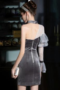 Eine Schulter Puff Ärmel Glamourösen Natürliche Taille Abendkleid