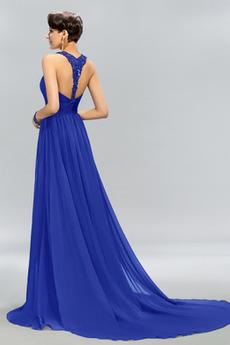Invertiertes Dreieck Natürliche Taille Sommer Elegante Abendkleid