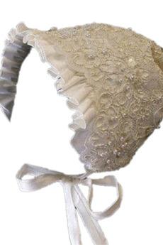 Frühling Spitzenbesatz Laterne Lange Hut Blumenmädchen kleid