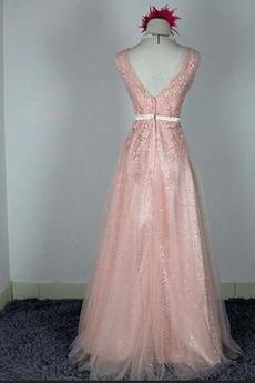 Hochzeit Natürliche Taille Fegen zug Schön Brautjungfer Kleid