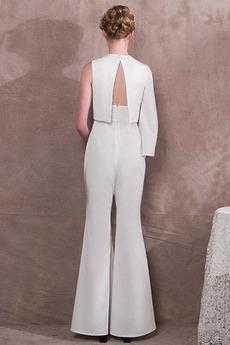 Asymmetrische Hülsen Mit hose Reißverschluss Schicke Abendkleid