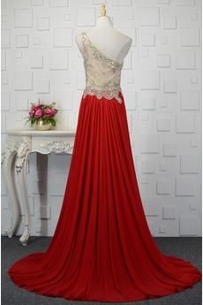 Natürliche Taille Dünn Juwel akzentuiertes Mieder Abendkleid