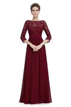 Natürliche Taille A Linie Breit flach Bodenlänge Reißverschluss Abendkleid