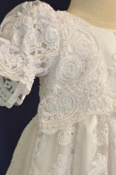 Kurze Ärmel Laterne hoch gedeckt Prinzessin Blumenmädchen kleid