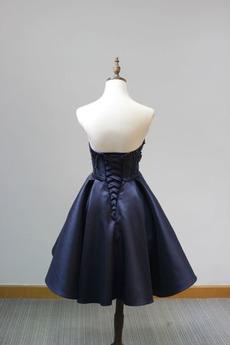 Partei Ärmellos Fallen Schnüren Schärpen Natürliche Taille Schicke Abendkleid